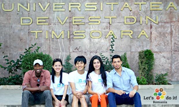 echipa internationala let's do it romania timis