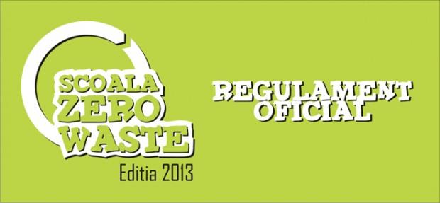 Regulamentul oficial de organizare si desfasurare a Concursului Scoala Zero Waste